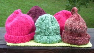 October 2011 Baby Hats in Fall Colors