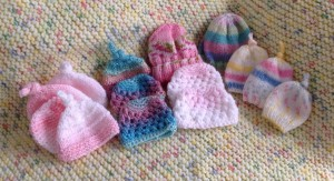 The tiniest hats are for preemies.