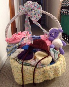 2015 Knit Out participants donated over 150 hats for newborns for Pottstown Memorial Medical Center.
