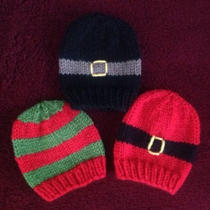 Striped Baby Hats with jogless stripes