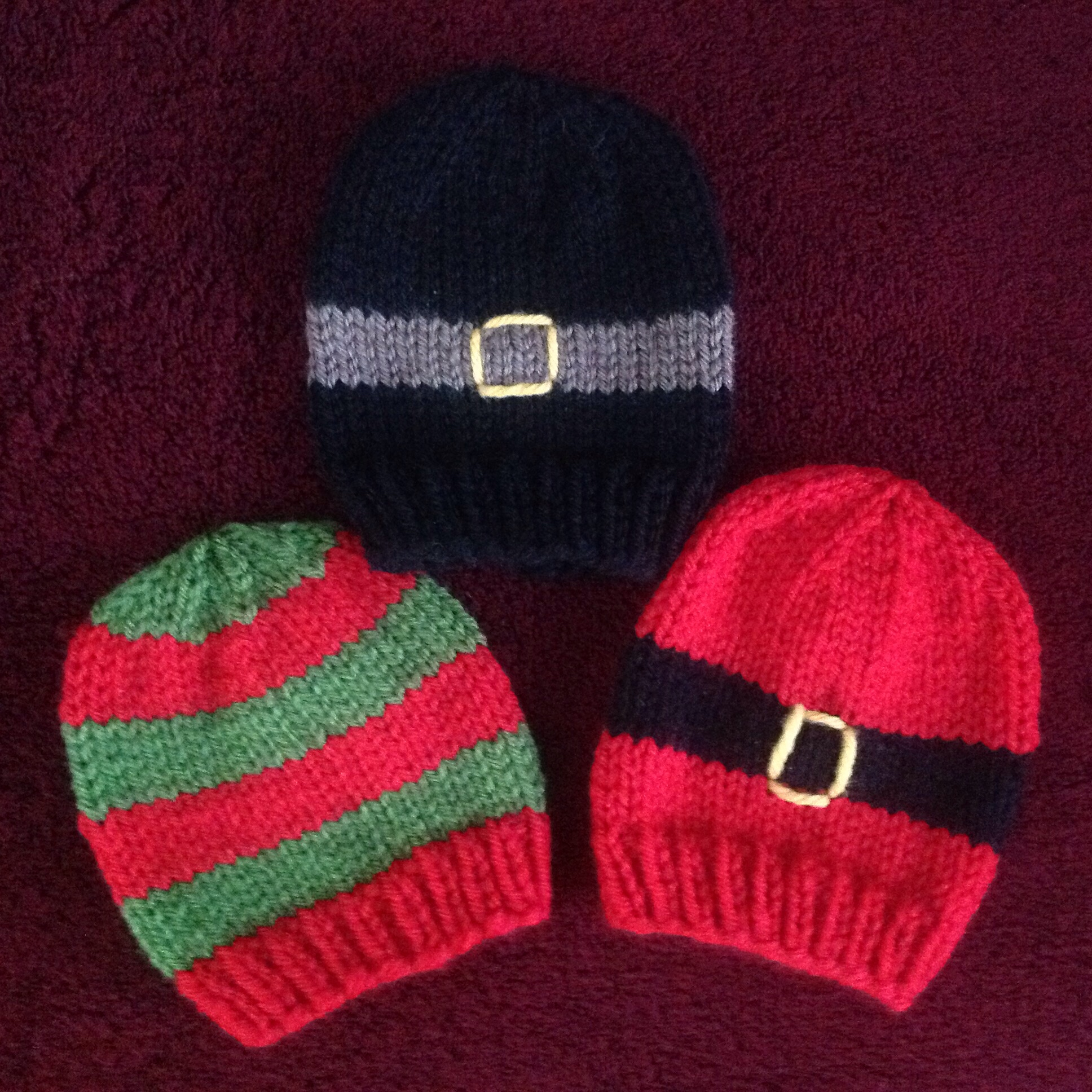73a8353f343 Striped Baby Hats with jogless stripes